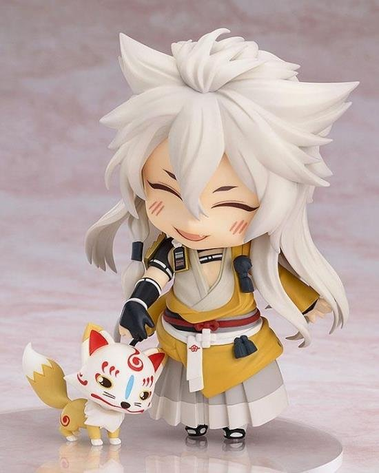 10cm Touken Ranbu Online Mikazuki Munechika kogitsunemaru Anime Collectible Action Figure PVC toys for christmas gift touken ranbu online good smile face changable 511 mikazuki munechika nendoroid pvc action figure collectible model toy