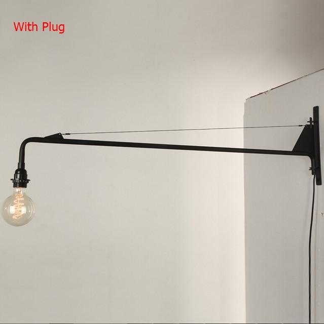 Vintage American Country Led Wall Lamp Loft Potence Wall Light Long ...