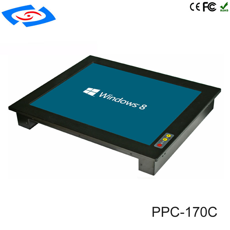 2018  Factory Price 17 Inch Embedded Fanless Industrial Tablet PC With Resolution 1280x1024 4xUSB2.0 VGA HDM RJ45 LAN Mini PCIE