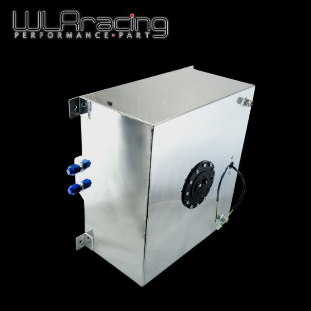 WLR RACING - 60L Aluminium Fuel Surge tank with sensor Fuel cell 60L with Cap/ foam inside WLR-TK41 wlr racing 30l aluminium fuel surge tank mirror polished fuel cell foam inside without sensor wlr tk67
