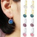 Серьги ZHOUYANG для женщин ручной работы, разноцветные кластеры из смолы, романтические серьги с имитацией камня, ювелирные изделия KAE011