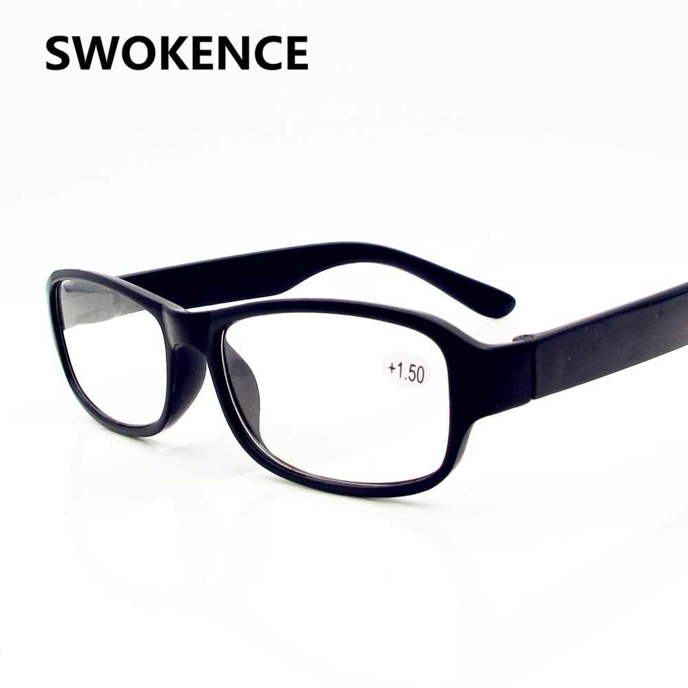 28e4ef1c0b SWOKENCE High Quality Unbreakable Reading Glasses Women Men Brand Black  Full Frame Resin Lens Presbyopic Eyewear