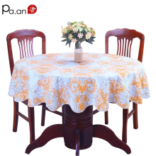 pastoral plastic tablecloth waterproof PVC floral printed round table cover home wedding decoration table  manteles para mesa