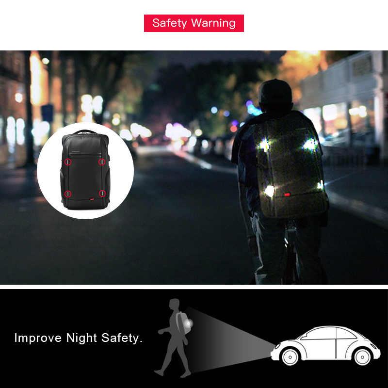 Kingsons mochila unissex impermeável, mochila impermeável unissex com tecnologia à prova de furtos e entrada para carregador usb, comporta laptops de 15 e 17 polegadas