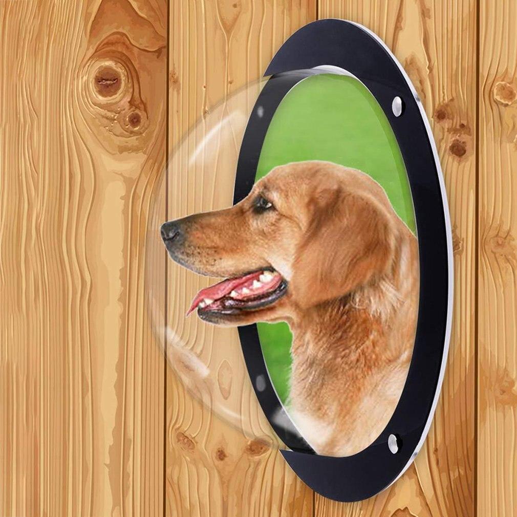 Acrylic Semicircular font b Pet b font Fence font b Pet b font Dog Fence Window