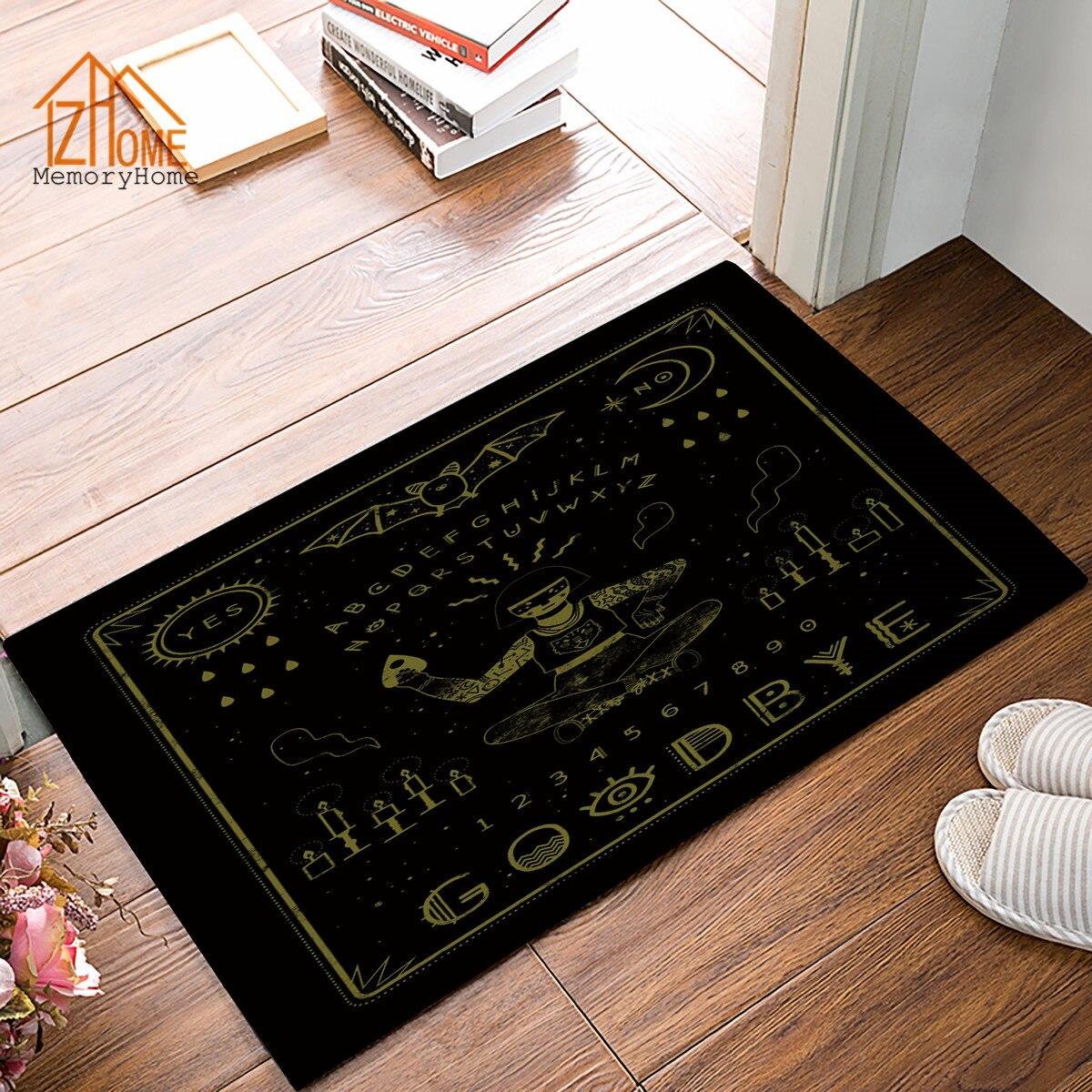 Memory Home Unique Design Ouija Board Pattern Non Woven Fabric Non Slip Indoor Home Bathroom Kitchen Rug Black Doormat Floor Mat Designer Floor Mat Floor Matfloor Mat Design Aliexpress