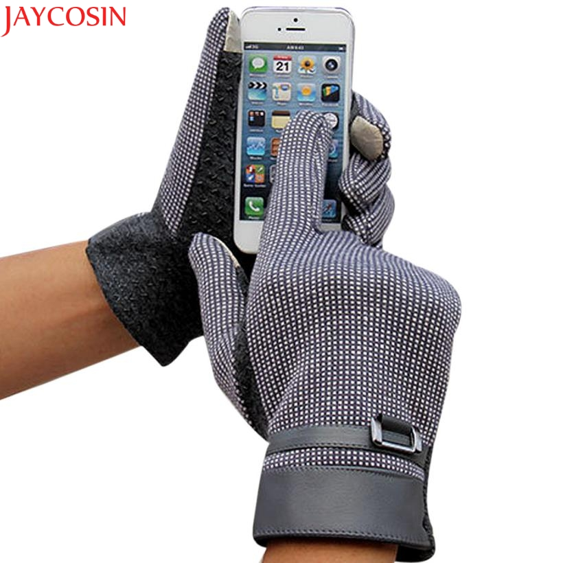 Jaycosin mittens christmas Fashion Men Click Screen Winter Outdoor Sport Warm Gloves Dec ...