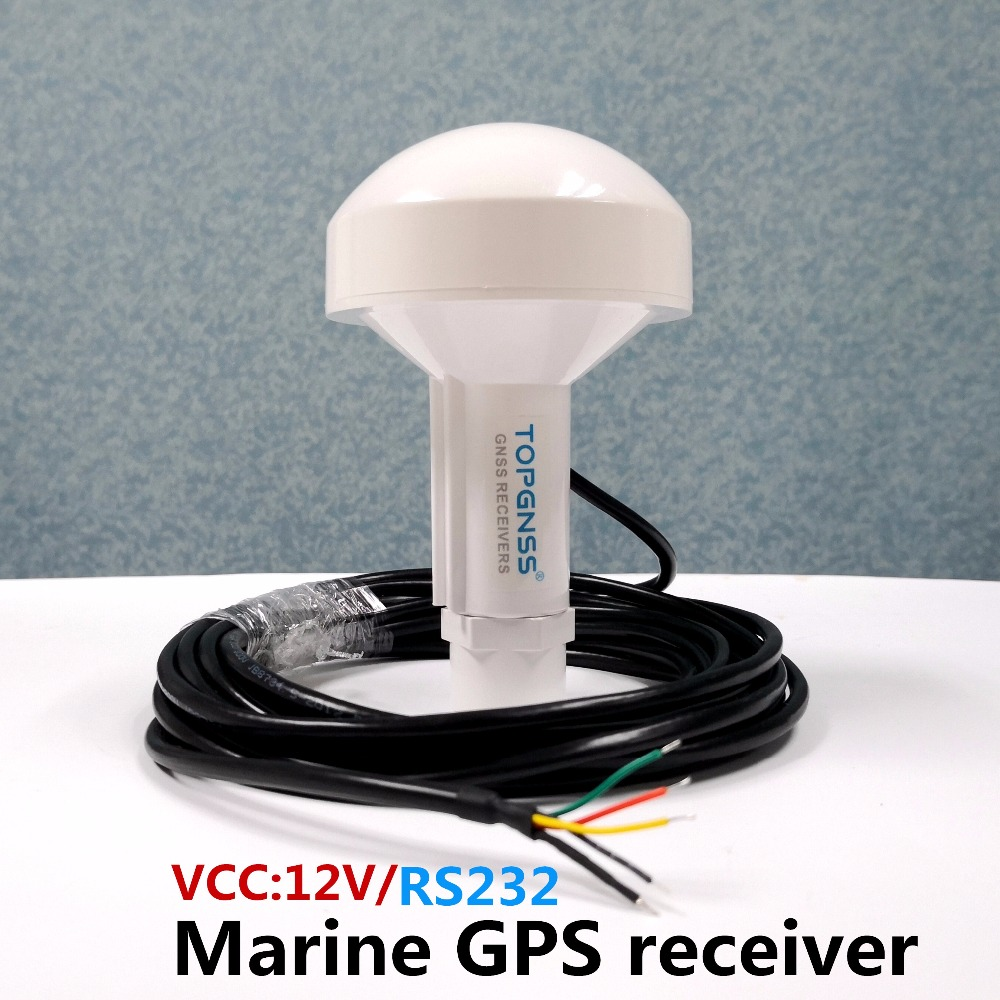 TOPGNSS RS232 GPS Marine GPS Receiver Antenna Module NMEA 0183 Baud Rate 4800 Voltage 12V  Cable Is 5 Meters.