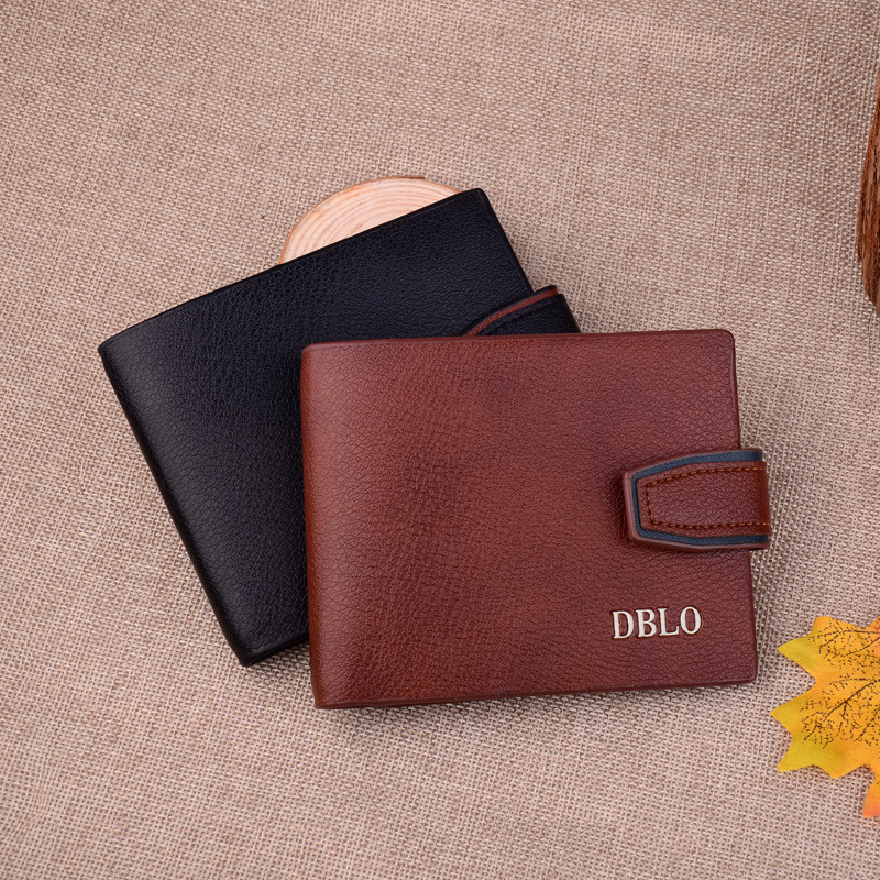 2018 Cheap Simple Casual Male Black Coffee Leather Wallet Vintage Card Holder Coin Purse Pockets Wallets for Men