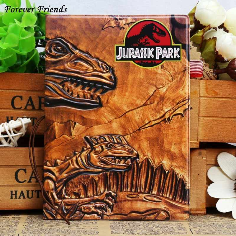 Fashion PU&PVC passport Cover , ID Credit Card Cover business Card -ID Holders for travel -  Jurassic park dinosaurs