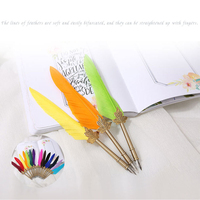 Dip pen gift box birthday gift European Gryffindor European goose pen English Calligraphy Feather Dip Pen Writing Ink Set