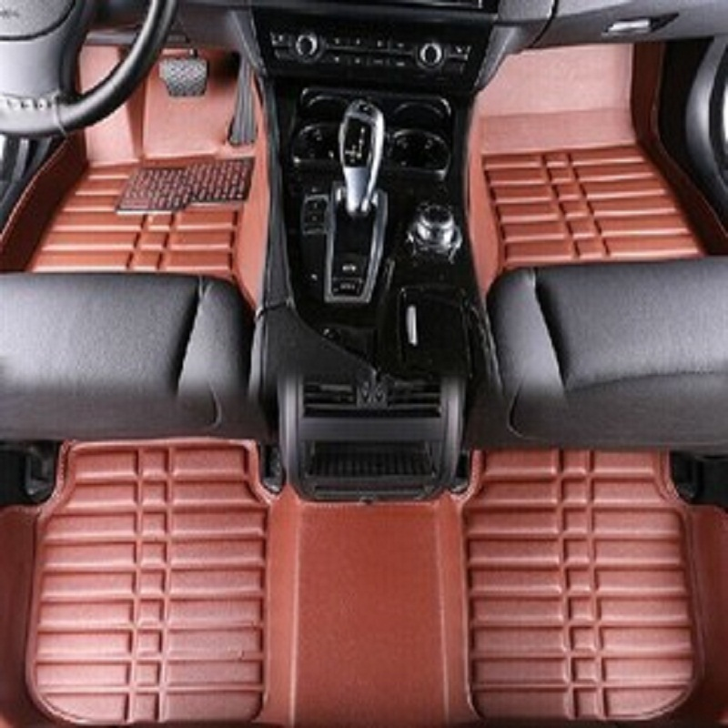 Car Floor Mats Covers top grade lanti scratch 5D fire resistant durable waterproof senior mat for FORD,focus,Mondeo,etc ,Styling
