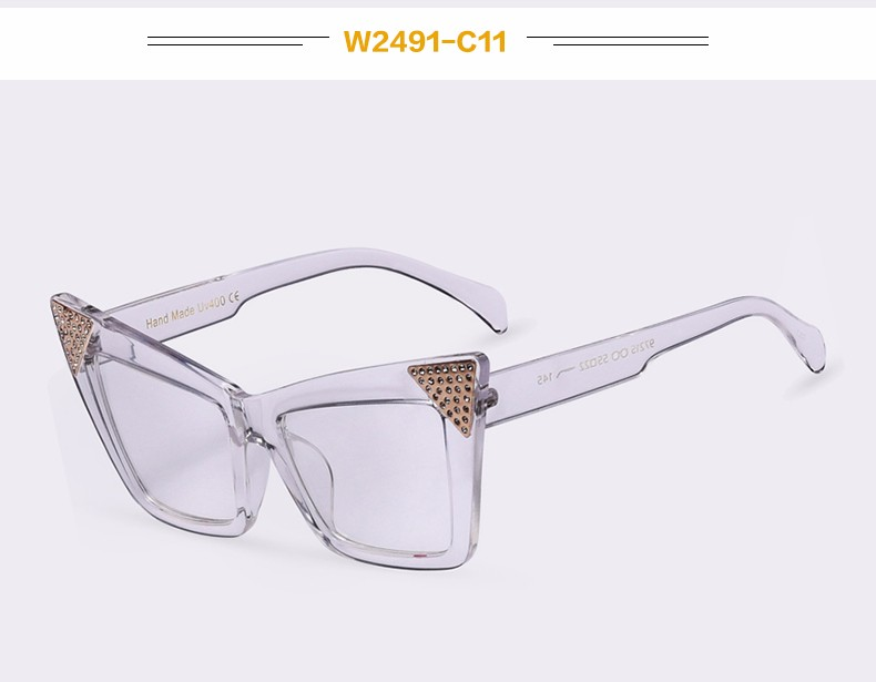866e107b1df Winla New Arrival Cat Eye Glasses Frame Clear Lens for Women Elegant  Fashion Style Female Eyeglasses Transparent Accessories