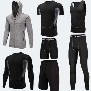 7PCS Compression Set Men Sport Suits Running Training Set Quick Dry Basketball Jogging Compression Sport Set Gym Fitness Clothes - DISCOUNT ITEM  34% OFF Sports & Entertainment