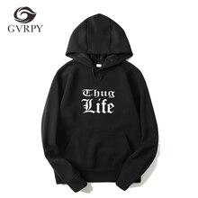 Thug Life impreso hombres mujeres Hoodies Rap Hip Hop Kpop Hoodies Tupac  2PAC hombres moda Streetwear Sudaderas talla grande 3XL. 9ce04f26449