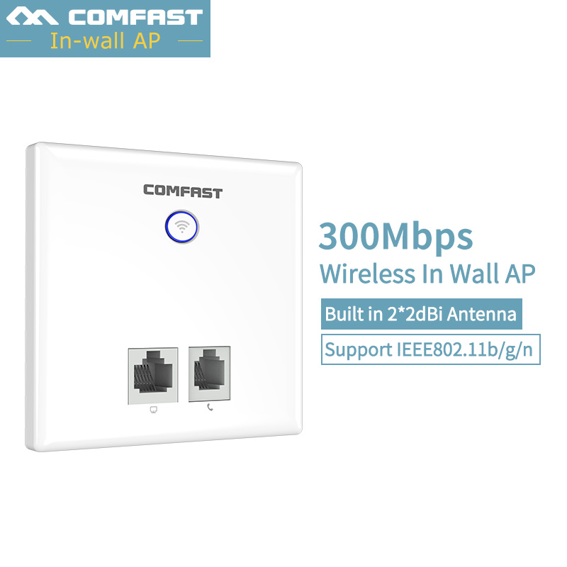 300Mbps in Wall WiFi router Wireless Access Point Socket AP for Hotel Project RJ45 LAN USB 802.11b/g/n 48V POE USB 2.0 Charging newly 300mbps in wall wifi access point wireless socket ap for hotel wifi project support ac management rj45 rj11 wps encryption