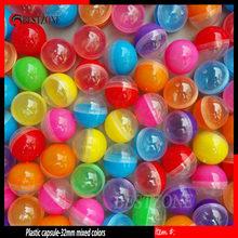 32mm 100pcs Plastic Empty Toy Vending Capsule Half Clear Half Color Capsule Ball 1-1 4 #8243 Vending Machine Ball 100pcs lot cheap 8 years old 12-15 Years 6 years old 8-11 Years 5-7 Years Promotional Plastic ball