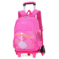 Kid's Travel Rolling luggage Bag School Trolley Backpack girls backpack On wheels Girl's Trolley School wheeled Backpacks Child