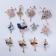 769b197f266b RINHOO gimnasia flor chica bailarina broches de cristal para las mujeres  lindo Pin de plata de alta calidad pulsera de moda joye.