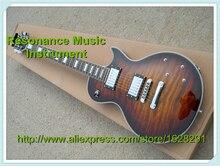 Custom Shop China LP E-gitarre In Wüste Sprengte Farbe Gesteppte Top Gitarren-körper Lefty Benutzerdefinierte Erhältlich