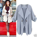 Women Ladies Lapel Long Summer Spring Cardigan Coat  Outwear Jacket