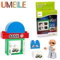 UMEILE Original Classic Duplo Big Building Block Robber Bad Person Bank Robbery Kids Toys Compatible with Legoe Duplo Gift