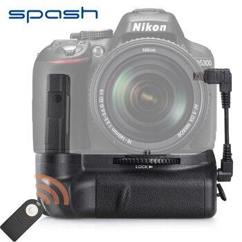 Spash垂直バッテリーグリップ用ニコンd5100 d5200 d5300デジタル一眼レフカメラマルチ電源カメラバッテリーホルダーアクセサリーリモートコントロール