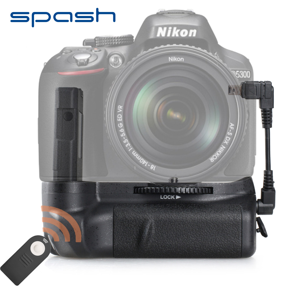 Spash Vertikal Batteri Grip for NIKON D5100 D5200 D5300 DSLR Kamera Multi-Power Kamera Batteri Holder Tilbehør Fjernkontroll