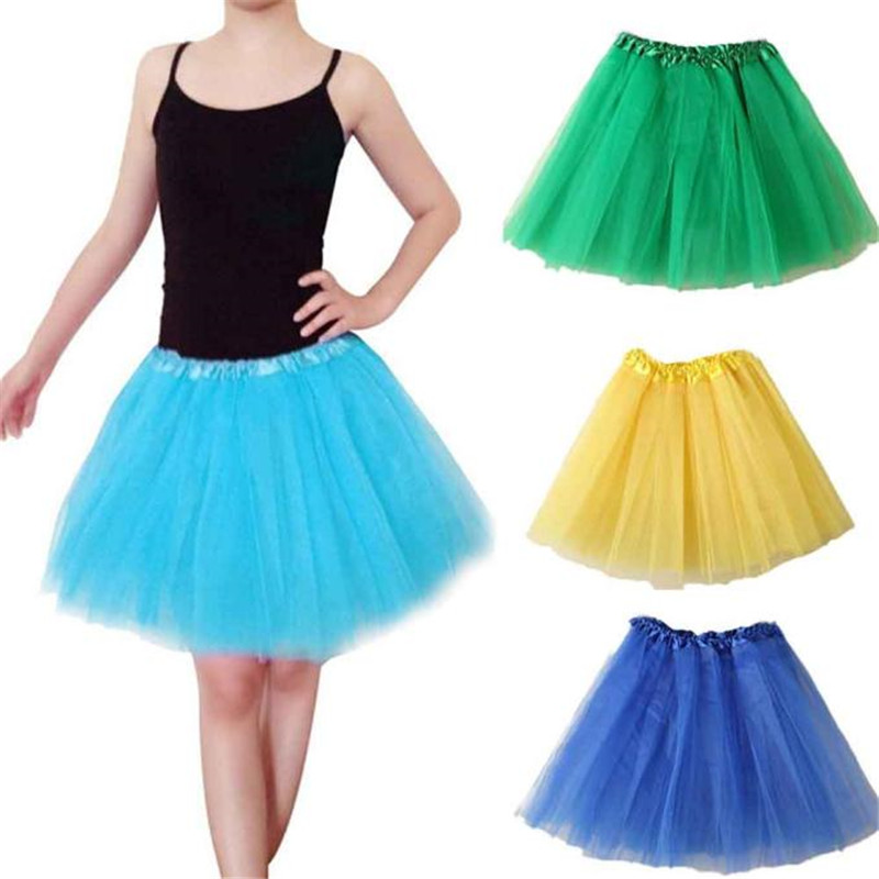 Faldas Mujer Moda 2018 Ballet Tutu Layered Organza Lace Multi Layer Mini Skirt  Jupe Femme  Tulle Skirt Woen Pink Green