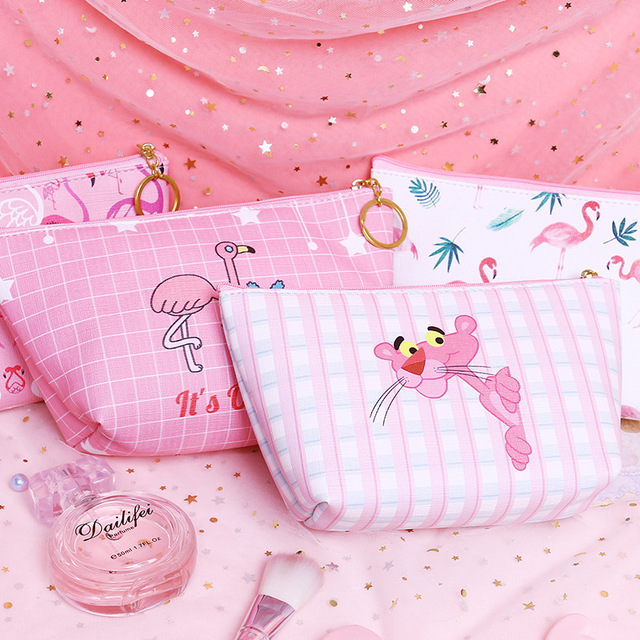 bccf07aaeb38 US $1.2 5% OFF PU Makeup Bags With Cartoon Pattern Cute Cosmetics Pouchs  For Travel Ladies Pouch Women Cosmetic Bag-in Cosmetic Bags & Cases from ...