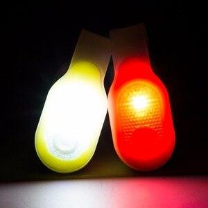 Image 5 - מיני גמיש Bendable מעיל צווארון כיס אור אדום בטיחות אור/לבן עבודת אור ידיים משלוח מנורת עם להחלפה 2xCR2032