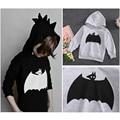 Cinza nova Chegada Do Bebê Meninos Hoodies Crianças 3D Batman Padrão Superior Moletom Com Capuz Sportswear Meninos Roupas 2-6A