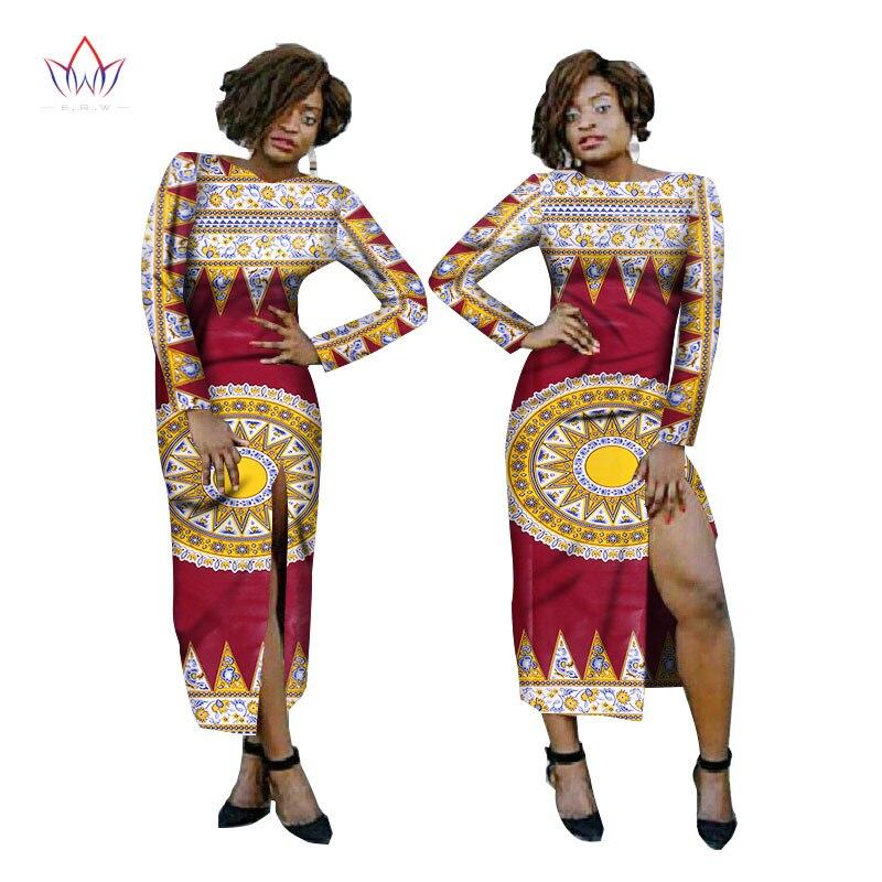 Online Shop Dashiki African Dress Summer Sexy Wear Sheath Pencil Bodycon  Dresses Cut Out Trim Long Sleeve Split Sheath Maxi Dress 6XL WY1529  66732e0eb8d8