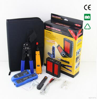 Free shipping, NOYAFA NF-1107 Network Lan Toolkit Network Cable Computer RJ45 RJ11 Cable Tester Diagnostic Tool Kit real life intermediate аудиокурс на 4 cd