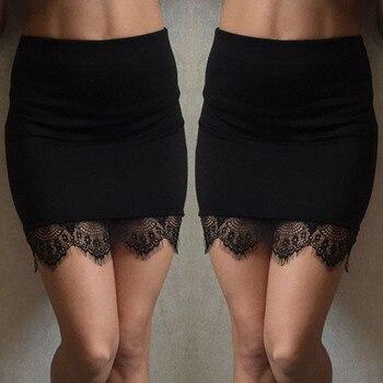 Skirt Women юбка женская jupe faldas High Waist Mini Short Skirt Lace Stitching Skirt Pencil Skirt женские юбки skirts womens skirt figl юбки в стиле колокол