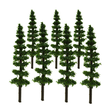 3-9cm model plastic Roadside trees green tree for architectural train layout