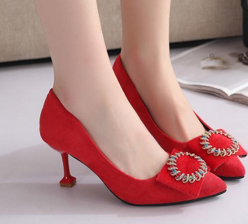 edc216afa7d74c Femmes red Printemps Haut Nouvelles Black Chaussures Talon Pompes Mariage  De Soirée Sexy rfqUrPn