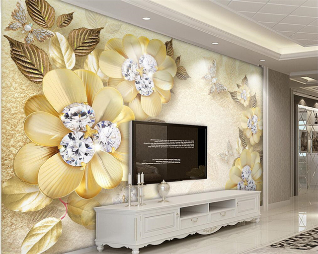 Beibehang European Luxury Gold Diamond Flower Silk Jewelry ...