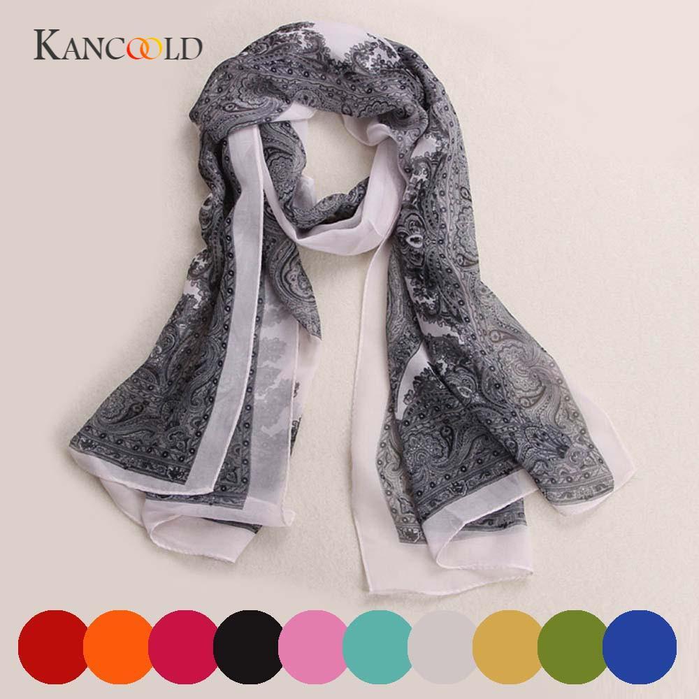 KANCOOLD silk   scarf   shawl Women Fashion Unique Style Lady Long Soft Chiffon   Scarf     Wrap   Shawl Stole   Scarves   for women FEB12