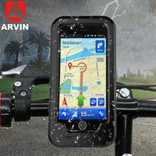 ARVIN Waterproof Motorcycle Bicycle Handlebar Phone Holder For iPhone X 8 7 Cycling Bike Mobile Phone Case Bag Support GPS Mount аквабокс overboard waterproof phone case and bike mount ob1156blk