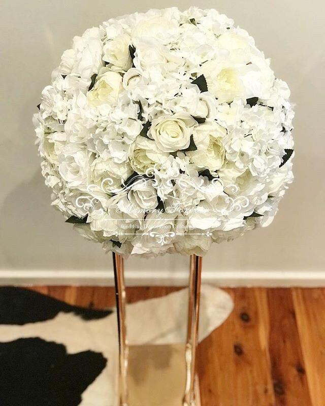 Wedding Columns Gold Wedding Flower Vase Metal Flower