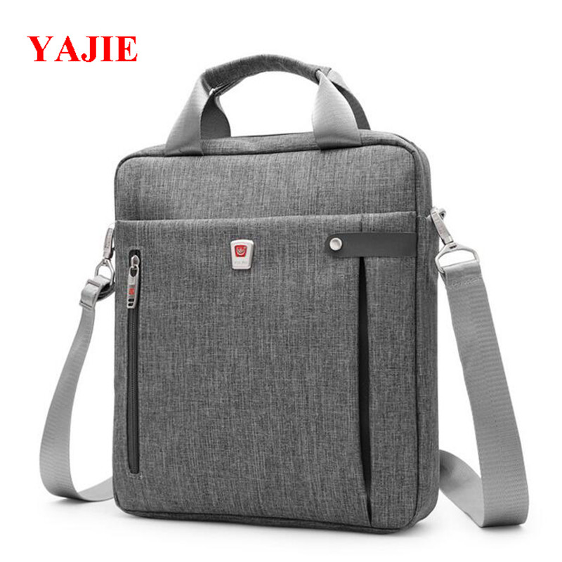 YAJIE 11 Inches Men Briefcase Luxury Designer Handbags Business Messenger Bags Casual Pack Fashion IPAD Male Shoulder Bag M414