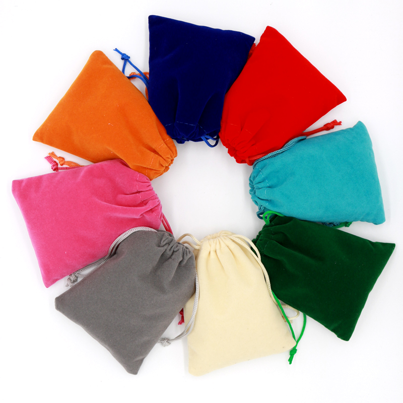 10pcs/lot Small Velvet Bag 5x7 7x9 9x12cm Earrings Charms Jewelry Packaging Bags Wedding Decoration Velvet Pouch Gift Bags