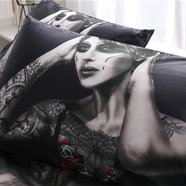 AWESOME SKULL THEMED 3D BEDDING SETS (5 VARIAN)