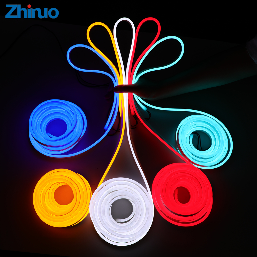 Silicone Neon LED Strip Light 12V Waterproof Lights Super Bright LEDs Flexible Neon Light Belt Name Board Soft Lighting Home DIY все цены