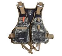 Outdoor Sport Fly Fishing Vest Men Multi Function Adjustable Mesh Jacket Waistcoat Survival Utility Vest Colete Salva Vidas S02