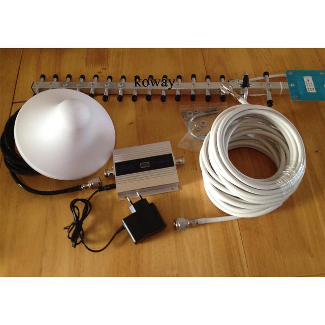 3g repetidor de sinal de reforço de sinal móvel 3g, amplificador de sinal de telefone celular 3g com display LCD cabo yagi 18dbi 3g conjunto completo