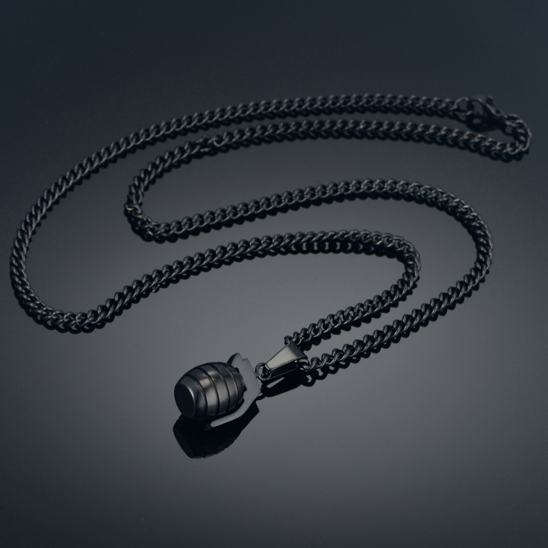 Collar colgante de granada antitanque para hombres de hip hop para - Bisutería - foto 5