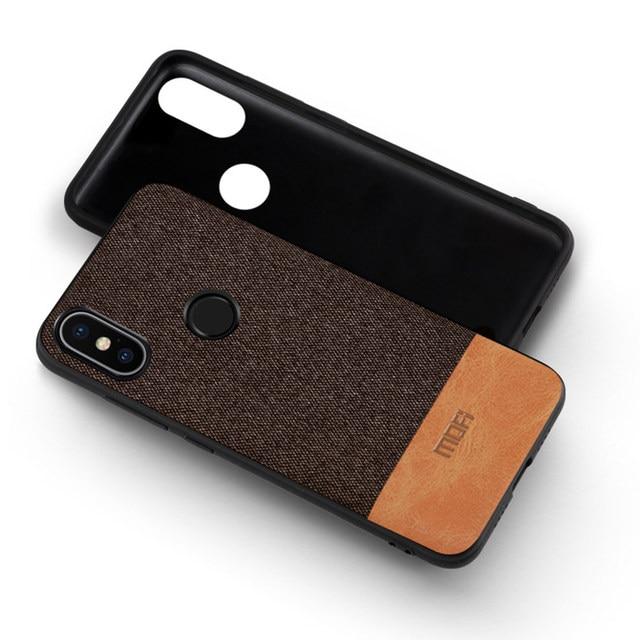 more photos ded58 f7da1 US $7.39 26% OFF For Xiaomi Redmi Note 5 case cover note5 Global Version  back cover silicone edge fabric case coque MOFi Redmi note 5 pro case-in ...