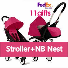 2016 100% ORIGINAL Travel baby Stroller Wagon Poussette Portable Folding Baby Stroller Lightweight Pram with Gifts